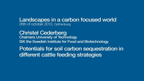 Tumnagel för Potentials for soil carbon sequestration in different cattle feeding strategies