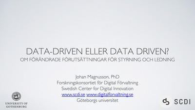 Data driven, Data-driven