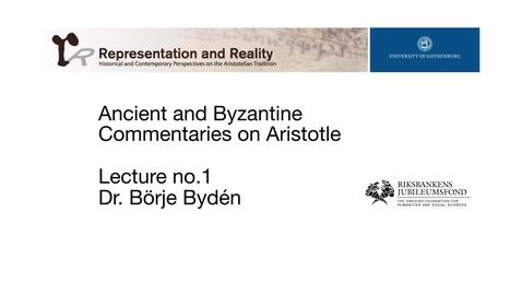 Miniatyr för inlägg Ancient and Byzantine Commentaries on Aristotle