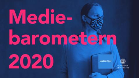 Tumnagel för Nordicom – Webbinarium om Mediebarometern 2020