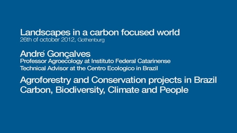 Tumnagel för Agroforestry and conversation projects in Brazil, carbon, biodiversity, climate and people