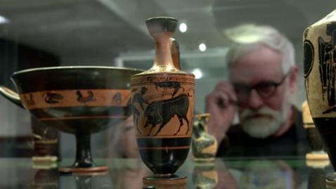 Tumnagel för Antikmuseet - Möt medelhavsvärldens antika kulturer