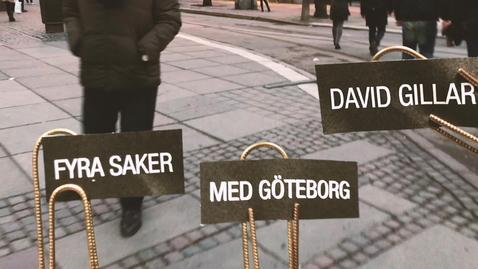 Tumnagel för Fyra saker David gillar med Göteborg