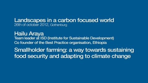 Tumnagel för Smallholder farming: a way towards sustaining food security and adapting to climate change
