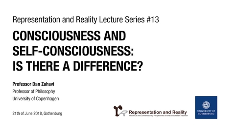 Tumnagel för Consciousness and Self-consciousness: Is There a Difference