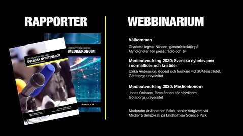 Tumnagel för Svensk medieutveckling: Ekonomi och användare