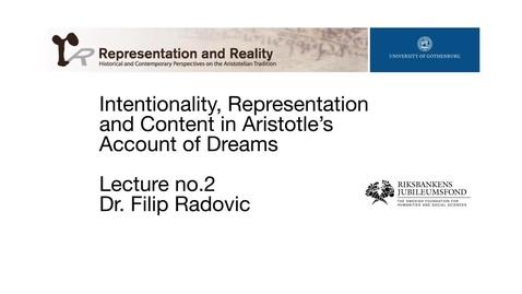Tumnagel för Iintentionality, Representation and Content in Aristotle's Account of Dreams