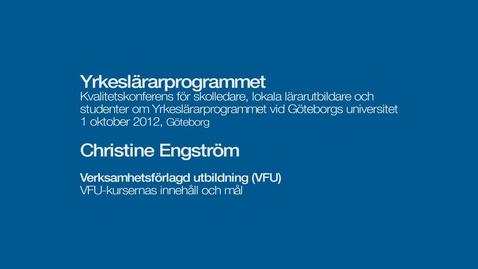 Tumnagel för Verksamhetsförlagd utbildning (VFU). VFU-kursernas innehåll och mål.