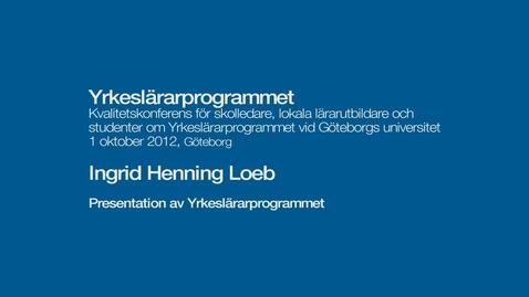 Tumnagel för Presentation av yrkeslärarprogrammet