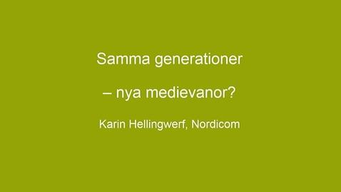 Tumnagel för Nordicom - Mediebarometern 2018, Del 2