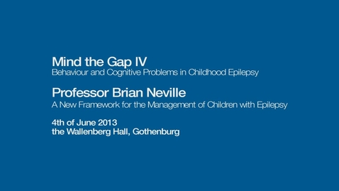 Miniatyr för inlägg A New Framework for the Management of Children with Epilepsy