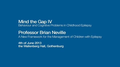 Tumnagel för A New Framework for the Management of Children with Epilepsy