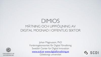 DiMiOS och Statusrapport 2020