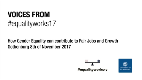 Tumnagel för Voices from Equalityworks17