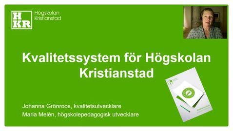 Kvalitetssystem för Högskolan Kristianstad