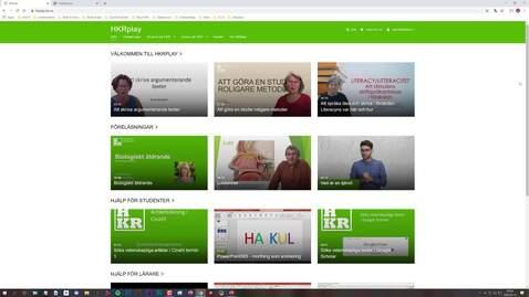 Miniatyr för inlägg Förklaring under 1 minut: Spela in PowerPoint med HKRplay (Kaltura Capture)