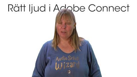 Miniatyr för inlägg Rätt ljud i Adobe Connect