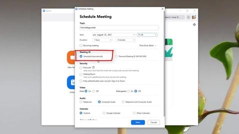 Miniatyr för inlägg Snabbstarta schemalagt möte i Zoom