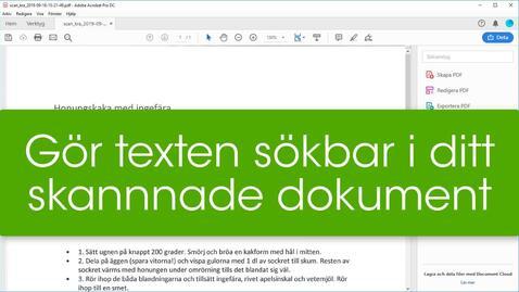 Miniatyr för inlägg Gör texten sökbar i ditt skannade dokument