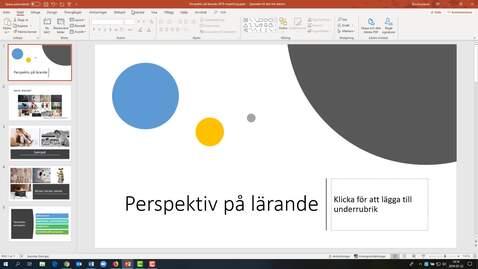 Miniatyr för inlägg PowerPoint 365 - spela in din presentation (Windows)