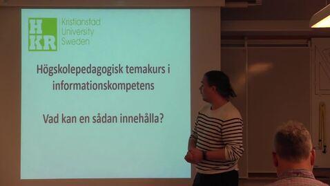 Miniatyr för inlägg Högskolepedagogisk temakurs i informationskompetens