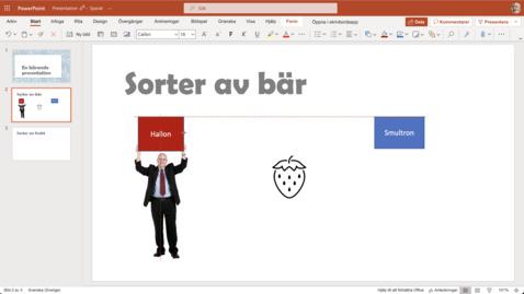 Miniatyr för inlägg Jobba i en presentation delad via OneDrive