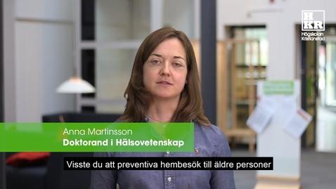 Miniatyr för inlägg Preventiva hembesök - Anna Martinsson