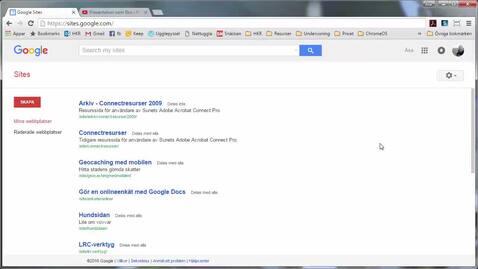 Miniatyr för inlägg Intro till Google Sites