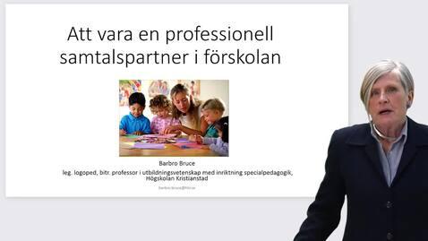 Miniatyr för inlägg Att vara en professionell samtalspartner i förskolan