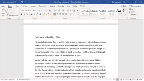 Miniatyr för inlägg Word 365 - Automatisk innehållsförteckning