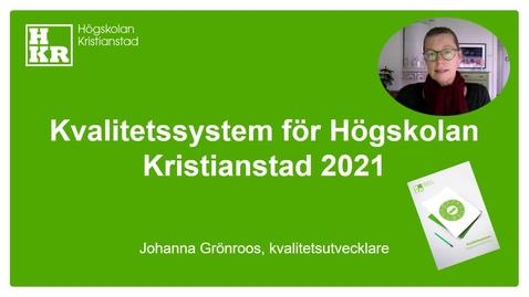 Miniatyr för inlägg Reviderat kvalitetssystem okt 2021