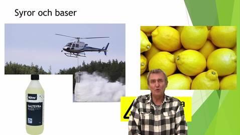 Syror och baser del 1