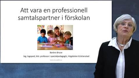 Miniatyr för inlägg Att vara en professionell samtalspartner i förskolan - en sammanfattning