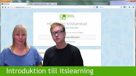 Miniatyr för inlägg Introduktion till itslearning för studenter på HKR