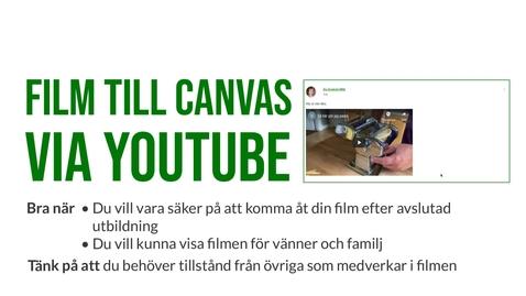 Miniatyr för inlägg Film på Canvas via YouTube 2021
