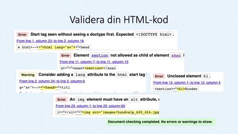 Miniatyr för inlägg Validera HTML-kod