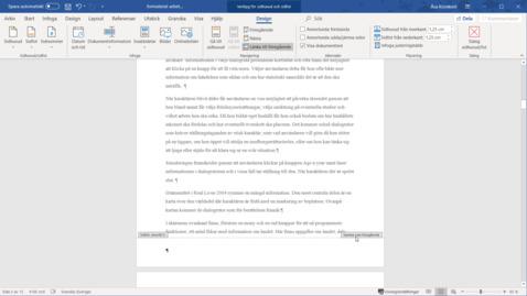 Miniatyr för inlägg Word 365 - Sidnummer där du vill ha dem