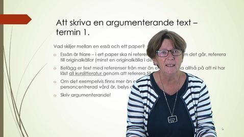 Miniatyr för inlägg Att skriva en argumenterande text - termin 1