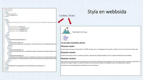 Miniatyr för inlägg Styla en webbsida med hjälp av en extern stilmall