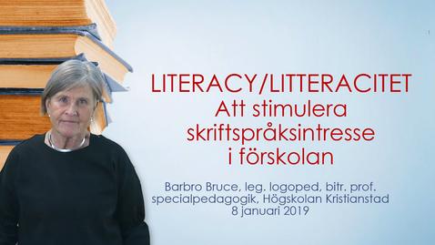Att språka läsa och skriva i förskolan. Literacyns var när och hur
