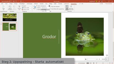 Miniatyr för inlägg PowerPoint med förinspelat ljud