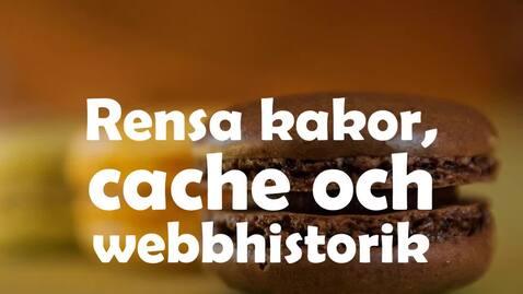 Miniatyr för inlägg Rensa din webblasare - om inloggning elller webbsida krånglar