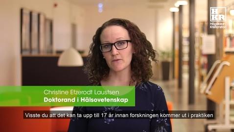 Miniatyr för inlägg Brukarmedverkan - Christine Etzerodt Laustsen
