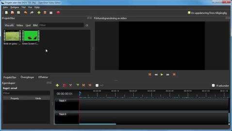 Miniatyr för inlägg OpenShot gratis filmredigering - greenscreen effekt