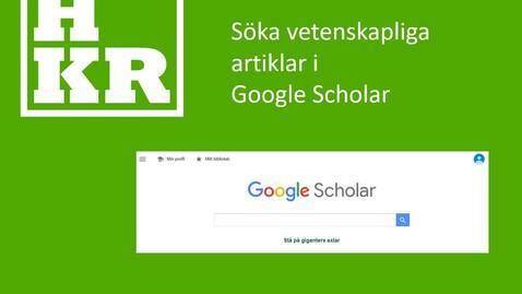 Miniatyr för inlägg Söka vetenskapliga artiklar i Google Scholar
