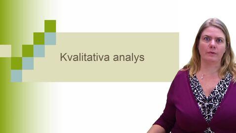 Miniatyr för inlägg Kvalitativ analys