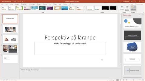 Miniatyr för inlägg PowerPoint 365 - designidéer och anteckningar