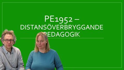 Miniatyr för inlägg Distansöverbryggande pedagogik - kursintro