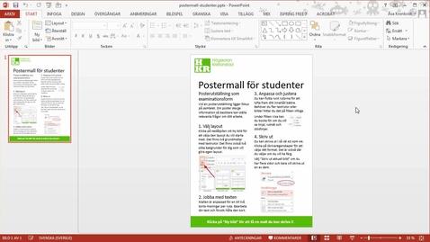 Miniatyr för inlägg Postermall för studenter på HKR