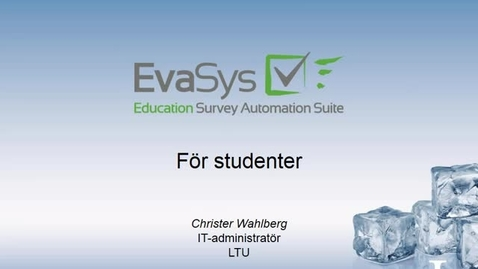 Thumbnail for entry Introduktion Evasys for studenter